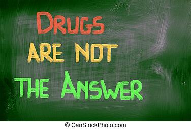 droghe, risposta, concetto, non