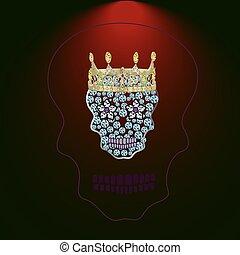 drogocenny, (, 4, czaszka, kamienie
