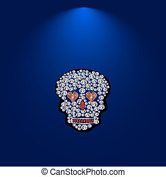 drogocenny, czaszka, stones.5