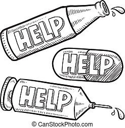 drogok, skicc, segítség, alkohol