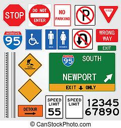 drogowe oznakowanie, ilustracja