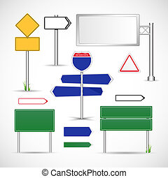 drogowe oznakowanie, wektor, szablon