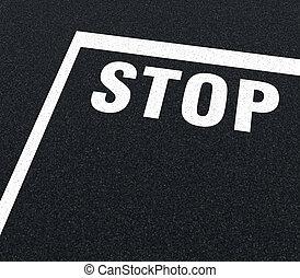 drogowe znakowanie, -, zatrzymywać