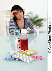 drogues, femme, malade