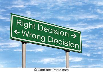 droit, décision, ciel, contre, signe, mal, route