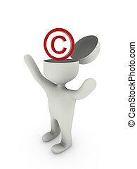 droit d'auteur, icône