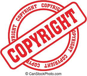 droit d'auteur, mot, stamp4
