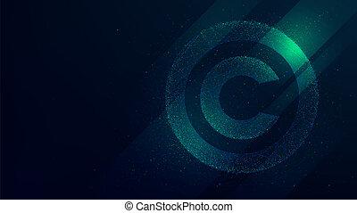 droit d'auteur, propriété, illustration, symbole, protection, intellectuel, avenir, technologie