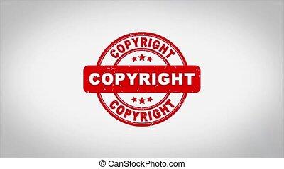 droit d'auteur, signé, bois, texte, timbre, compostage, ...