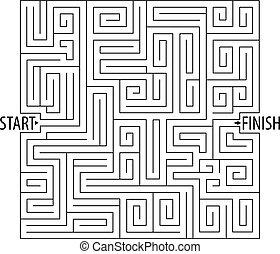 droit, game., lignes, logique, enchevêtré, way., labyrinthe, games., trouver