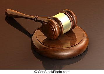 droit & loi, business, et, justice, concept