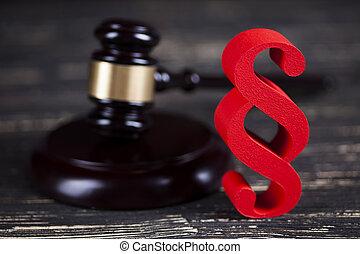 droit & loi, code, balances, maillet, concept, légal, signe,...