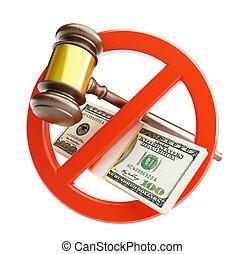 droit & loi, dollar, non