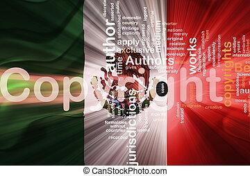 droit & loi, drapeau, ondulé, droit d'auteur, mexique