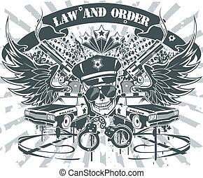 droit & loi, emblème, ordre