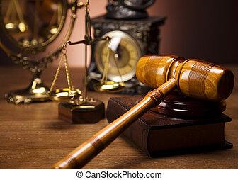 droit & loi, et, justice, concept