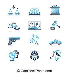 droit & loi, et, ordre, icônes, |, marin, série