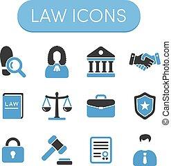 droit & loi, icônes