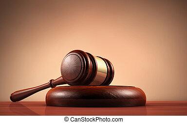 droit & loi, juge, et, justice, symbole