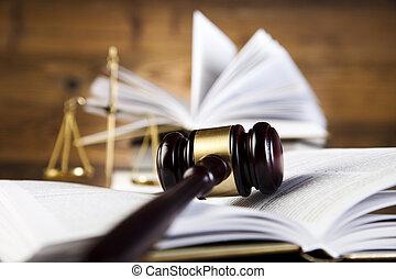 droit & loi, juges, gavel bois, balances