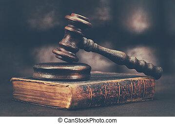 droit & loi, marteau
