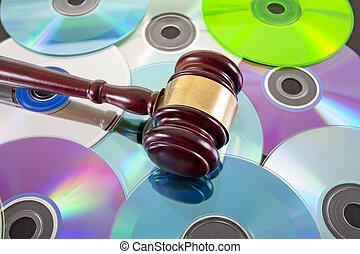 droit & loi, musique, copie, droit, concept