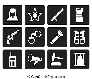 droit & loi, ordre, crime, police, icônes