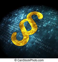 droit & loi, paragraphe, concept:, fond, numérique