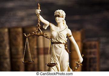 droit & loi, preuve, fardeau, thème, statue, justice