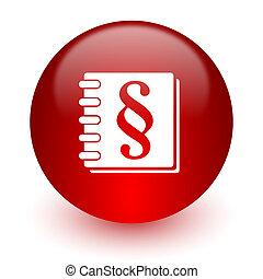 droit & loi, rouges, icône ordinateur, blanc, fond