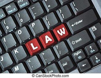 droit & loi, sur, clavier