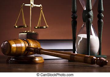 droit & loi, thème, maillet, de, judge!
