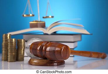 droit & loi, thème, maillet, de, juge