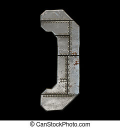 droit, parenthèses, 3d, industriel, symbole, métal, fond,...