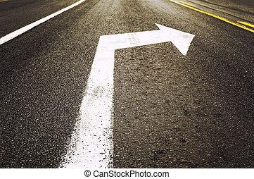 droit, trafic, panneaux signalisations