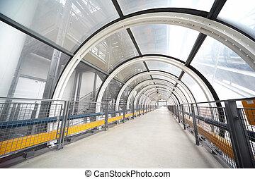 droit, transition., centre, pompidou., piéton, couvert, sentier, long, vue côté