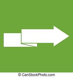 droit, vert, icône flèche