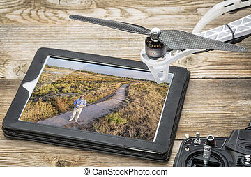 drone aerial photography concept