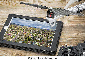 aerial photography concept