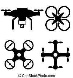 Drone and UAV icons - Drone and UAV models icon set