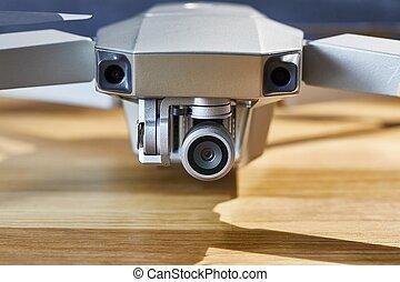 Drone camera closeup