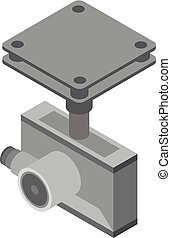 Drone camera icon, isometric style