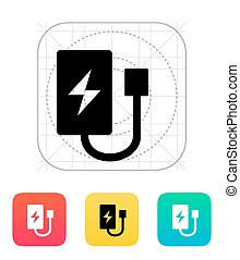 Drone charger icon. Vector illustration.