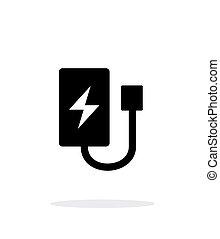 Drone charger simple icon on white background.