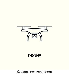 drone concept line icon. Simple element illustration. drone concept outline symbol design. Can be used for web and mobile