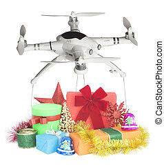 drone delivery of gifts for Christmas holiday