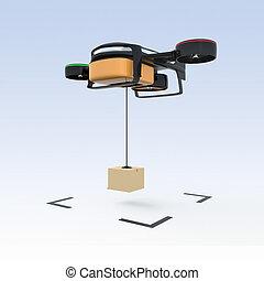 Drone drop carton down