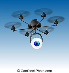 Drone Eye - Drone or unmanned aerial vehicle (UAV) with an...