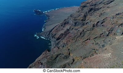drone flight over high mountains in the Tenerife