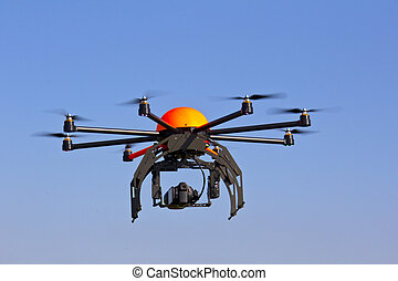 Flying with an octocopter for video and photo productions